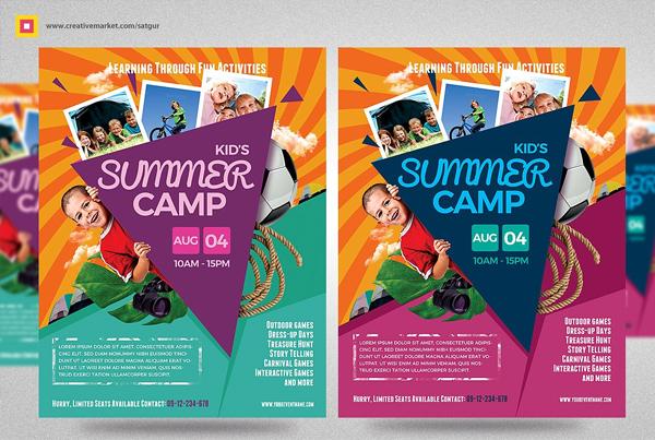 Kids Summer Camp Flyers Bundle