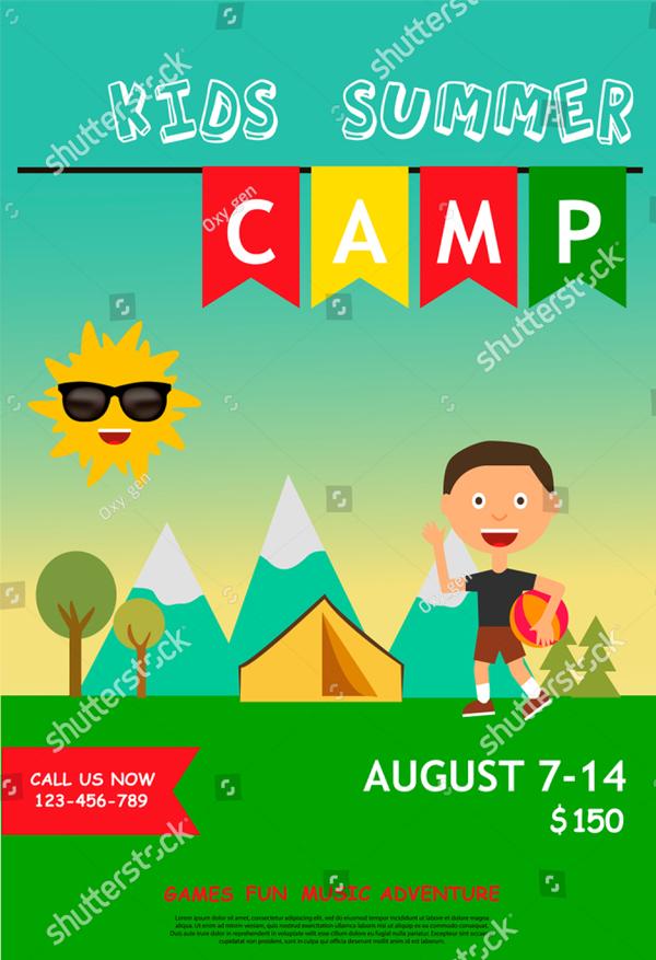 Kids summer Camp Poster or Flyer Template