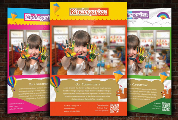 Kindergarten Flyer PSD Template