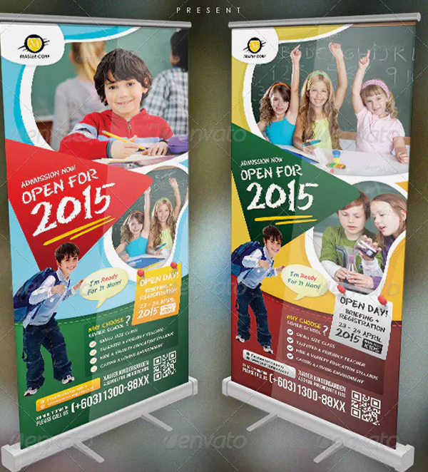 Kindergarten Junior School Banner Template