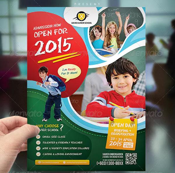 Kindergarten Junior School Flyer Design Template