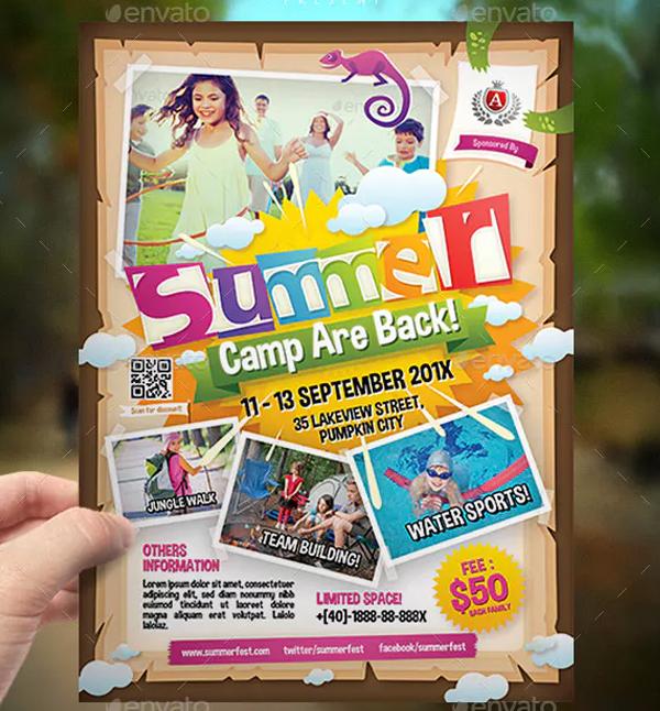 Kindergarten Summer Camp Flyer