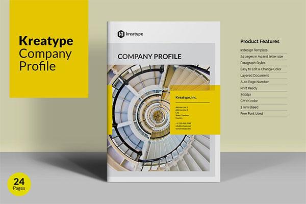 Kreatype Company Profile Brochure Template