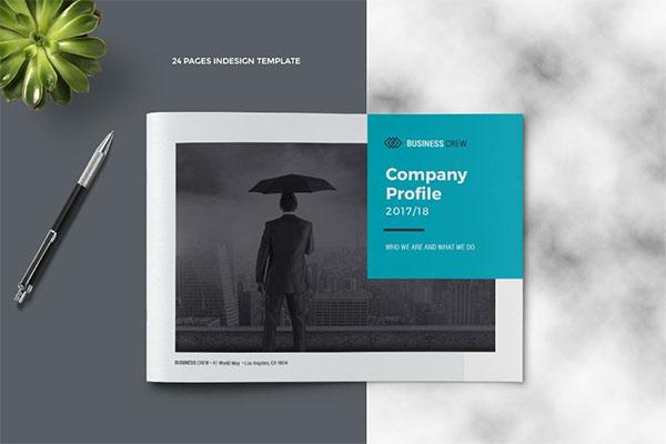 Landscape Company Profile PSD Brochure Template