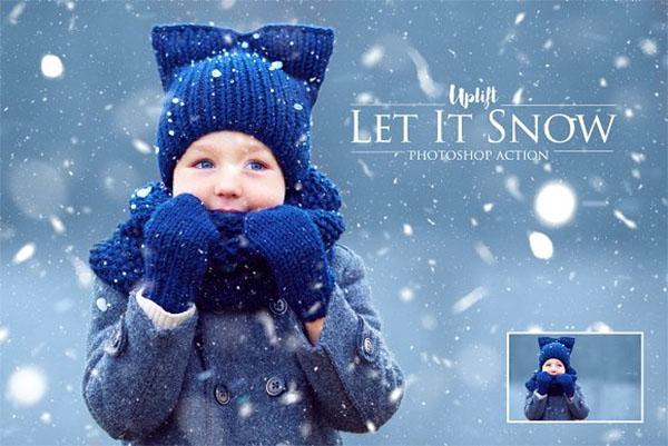 Let It Snow! Photoshop Action