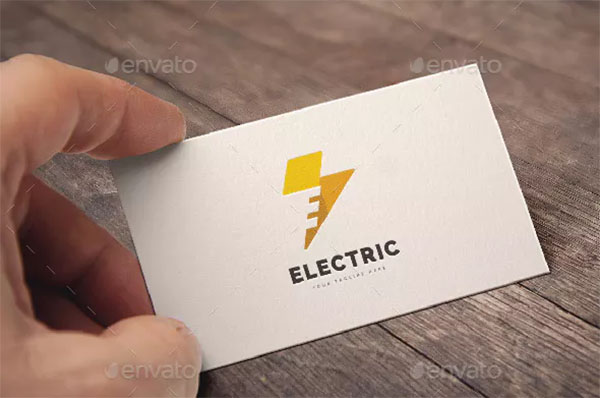 Letter E Electric Logo