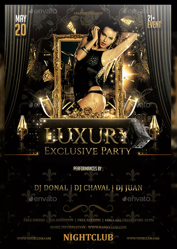 Luxury Exclusive Party Flyer Template