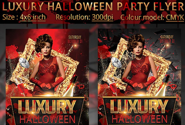 Luxury Halloween Party Flyer Template