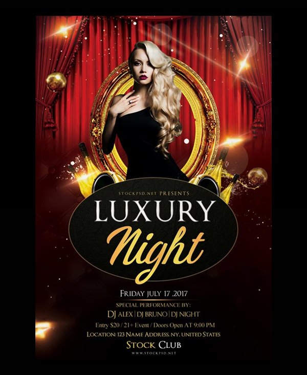 Luxury Night Free Flyer PSD Template