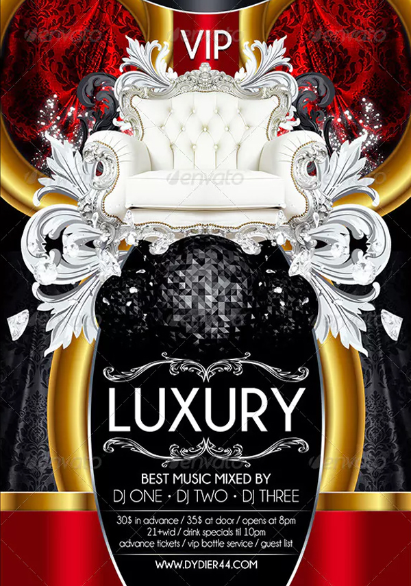 Luxury VIP Party Flyer Template