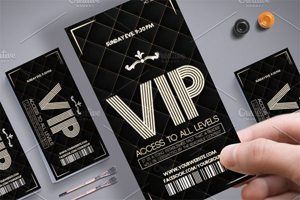 Luxury VIP Pass Card Template