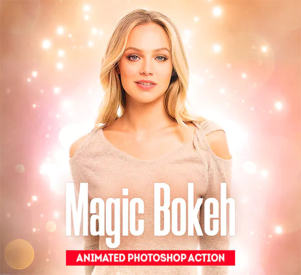 Magic Bokeh Animated Photoshop Action
