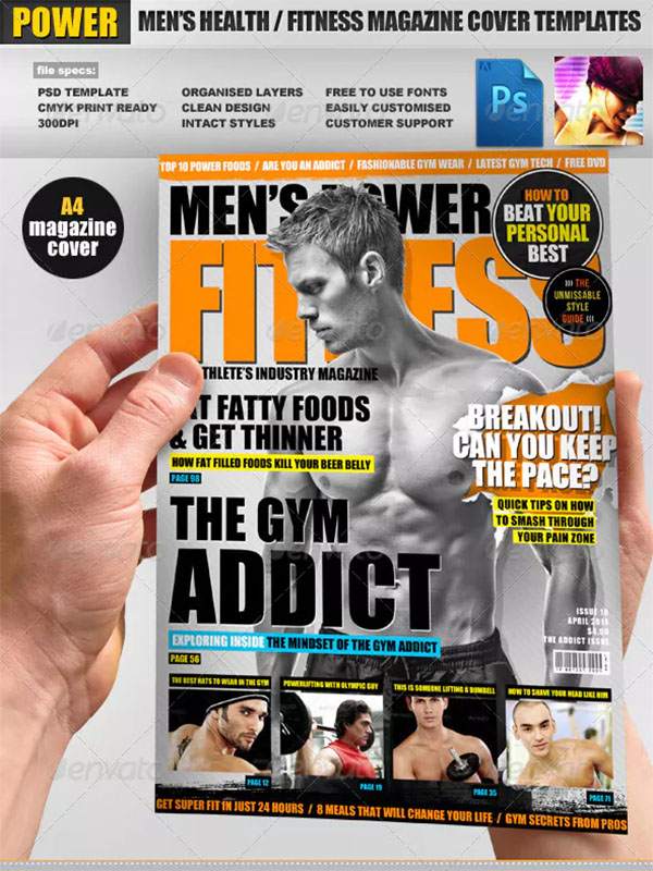 Mens Fitness Magazine Cover Templates 12 Free Psd Png Downloads