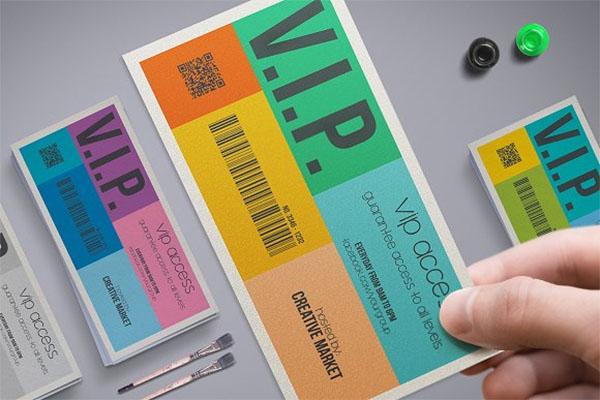 Metro Style VIP Pass Template