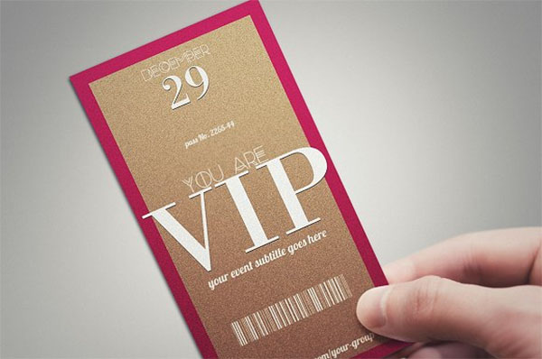 Minimal VIP Pass Card Template
