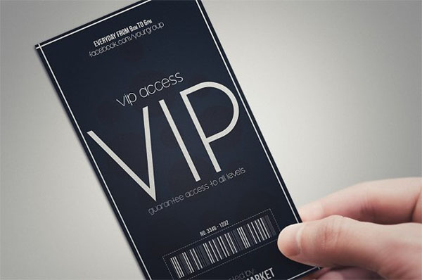 Minimal style VIP Pass Card Template