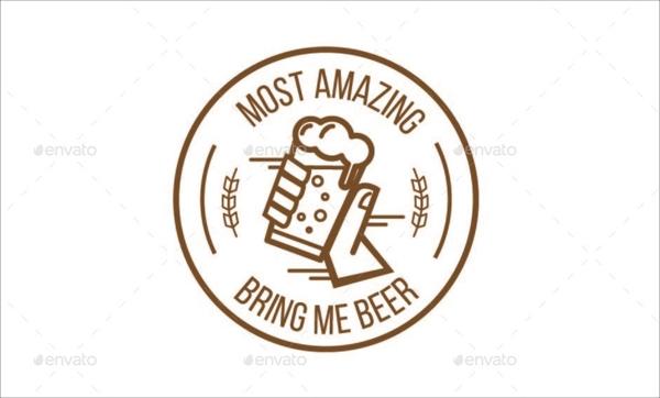 Modern Beer Label, Logos & Badge