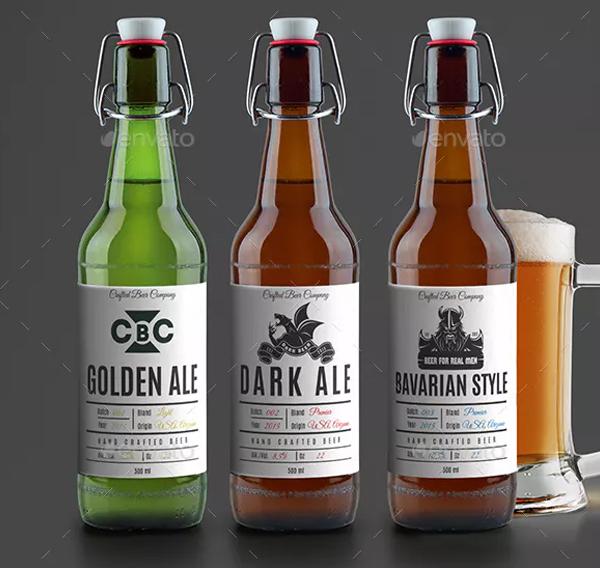 Modern Beer Label
