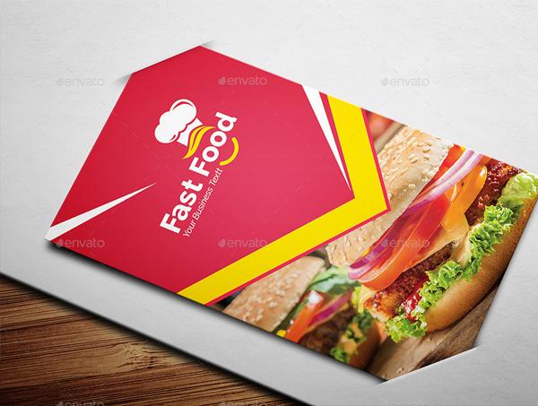 Modern Fast Food Business Card Template
