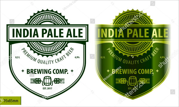 Modern Style Beer Label