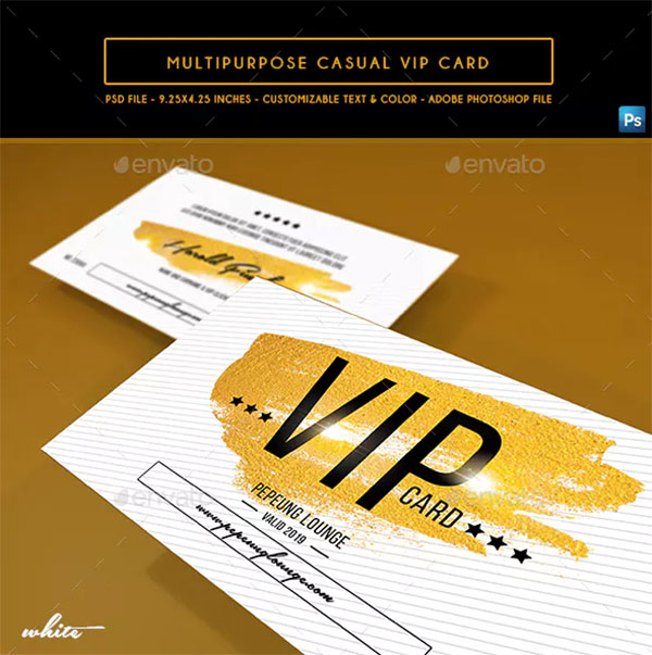 Multipurpose Casual VIP Card