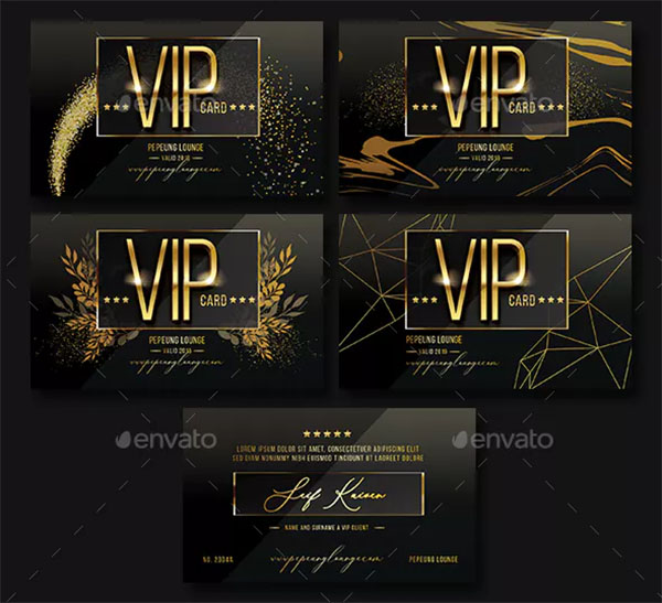 Multipurpose Gold VIP Card Template