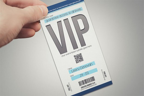Multipurpose Simple VIP Pass Card