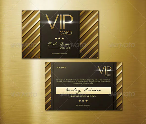 Multipurpose VIP Card Template