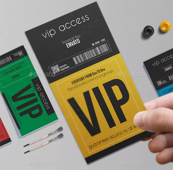 Multipurpose VIP Pass Card Template
