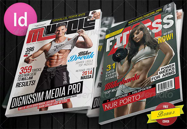 Muscle Mens Fitness Magazine Cover Templates