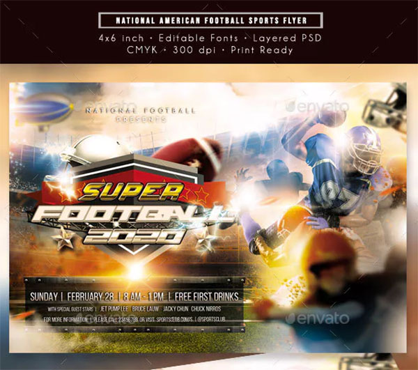 National American Football Sports Flyer