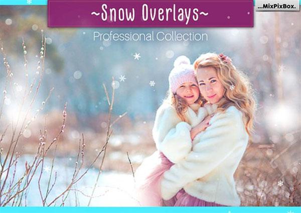 Natural PSD Snow Overlays