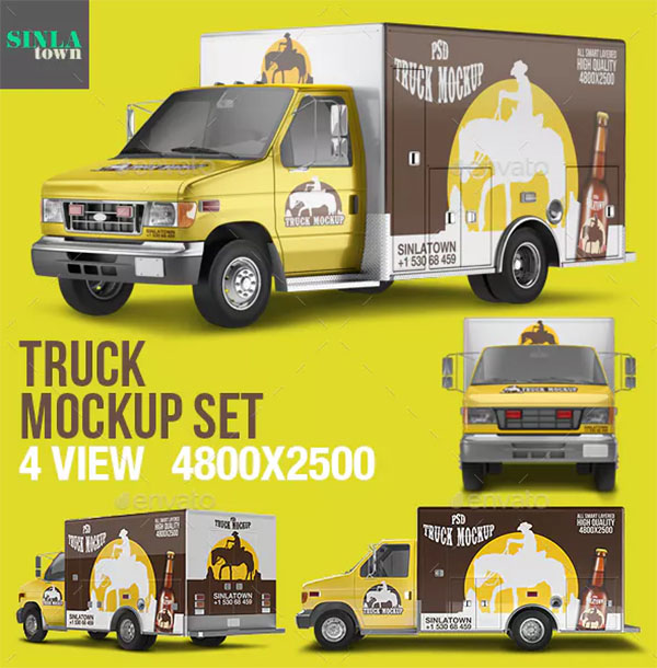 PSD Truck Mockup