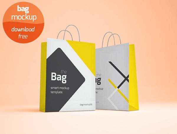 Photo Realistic Shopping Bag Mockup