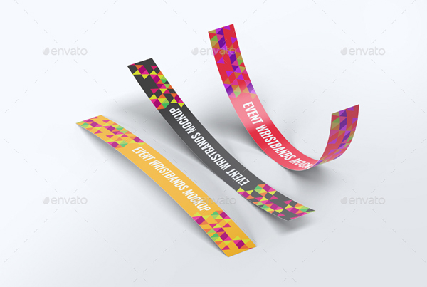 Photorealistic Event Wristbands Mock-Up