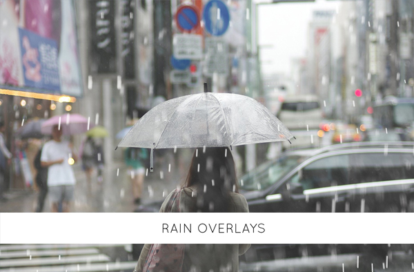 Photoshop Rain and Water Effect Overlays