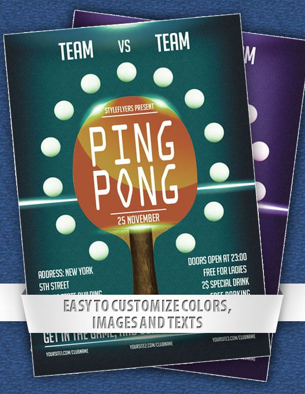 Ping Pong Free Sports Flyer