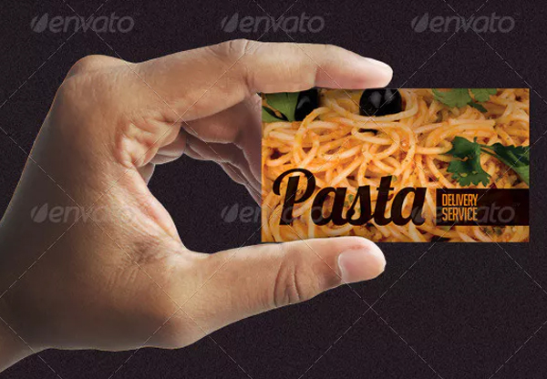 Pizza & Pasta Food Delivery Service Business Card Template