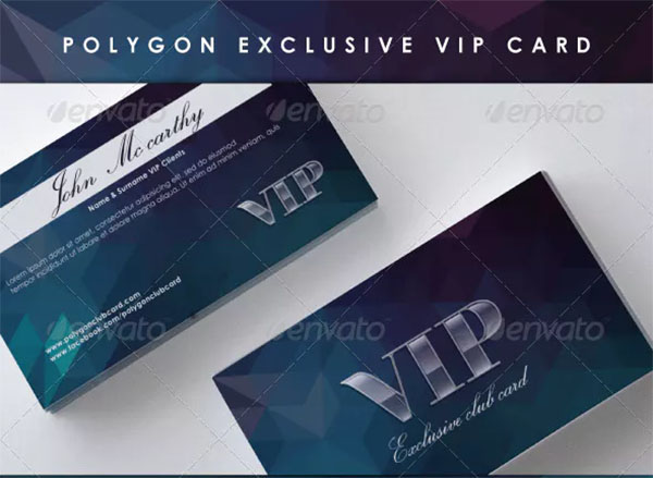 Polygon Exclusive VIP Card Template
