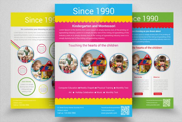 Printable Kindergarten Daycare Flyer Templates
