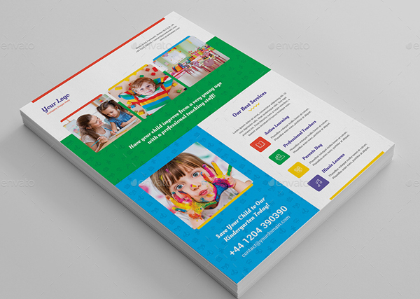 Printable Kindergarten Flyer Template