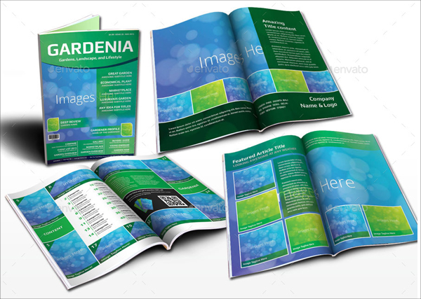 Printable Modern Garden Magazine Template