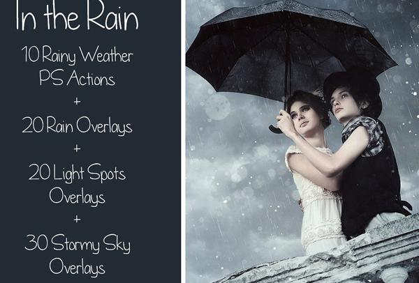 Rain Bundle Actions & Overlays