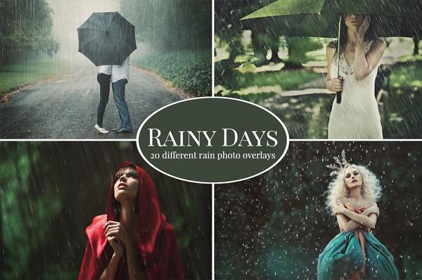 Rainy Days Photo Overlays