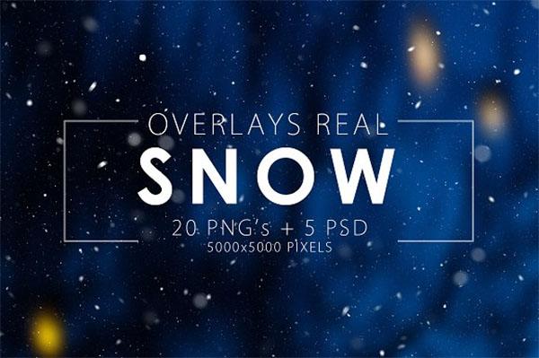 Real PSD Snow Overlays