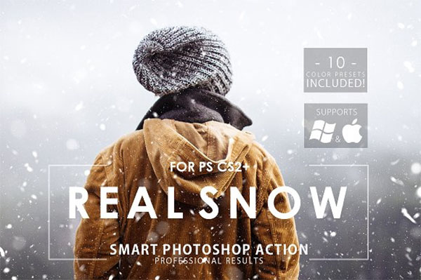 Real Snow Photoshop Action