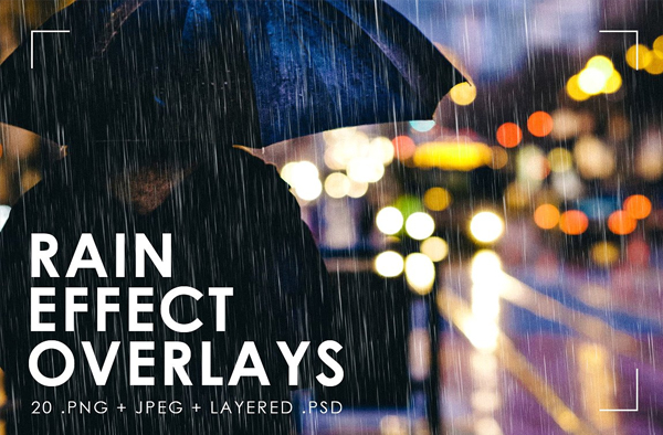 Realistic Rain Effect Overlays