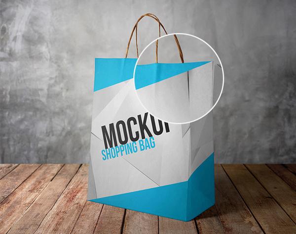 Realistic Shopping Bag PSD Mockup