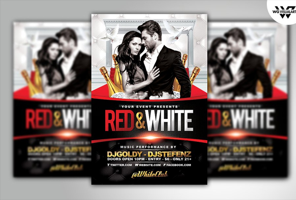 Red & White Luxury Flyer Template