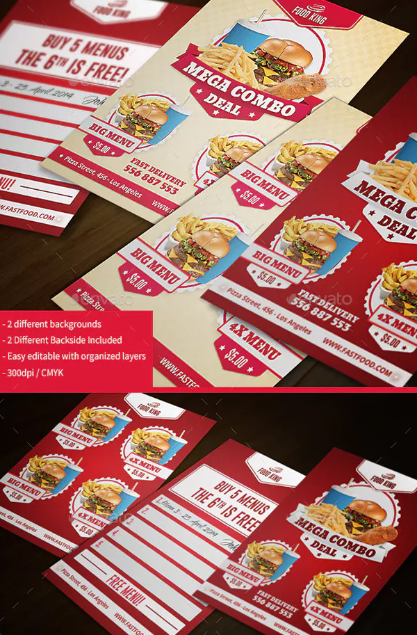 Restaurant Fast Food Business Cards
